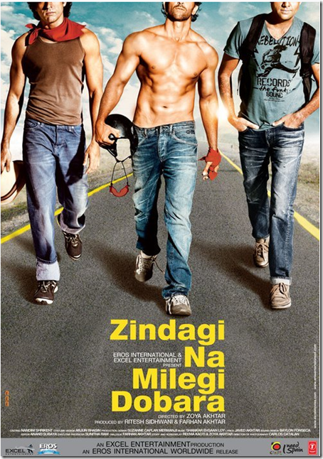 Zindagi na milegi dobara ft Farhan Akhta,Hrithik,Abhay Deo,Katrina Kaif,Kalki koenchlin,Ariadna cabrol,Nasseruddin shah,eros,excel,zoya akhtar,Spain,2011,24th june