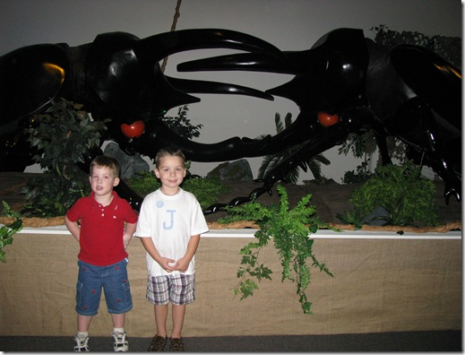 Jack and Riley with big bugs!