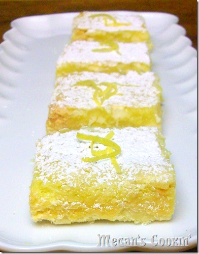 Lemon Bars w/White Chocolate Chips