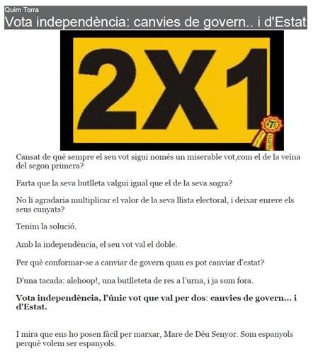 2x1 independéncia