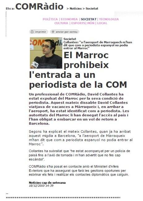 Marròc interdich un jornalista catalan d'entrada 181210
