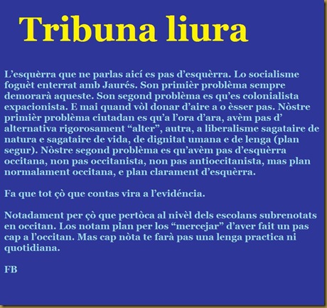 tribuna a la seguida del document