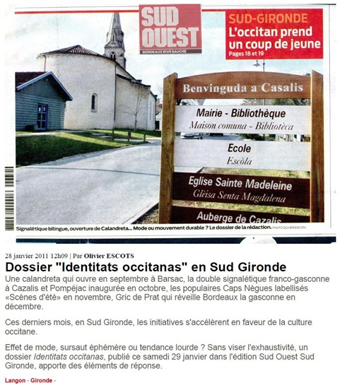 occitan Sud-Gironda Sud-Ouest 280111