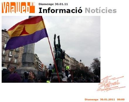Barcelona estatua del franquisme Vilaweb 300111