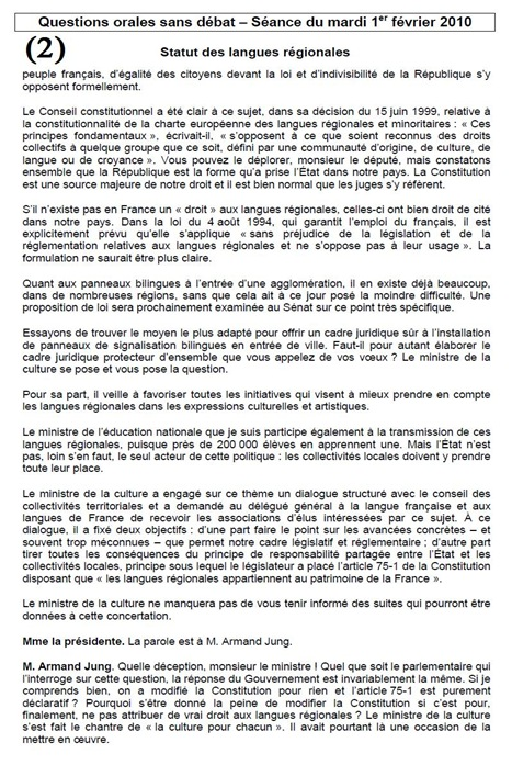 debat al Parlament sobre l'occitan (2)