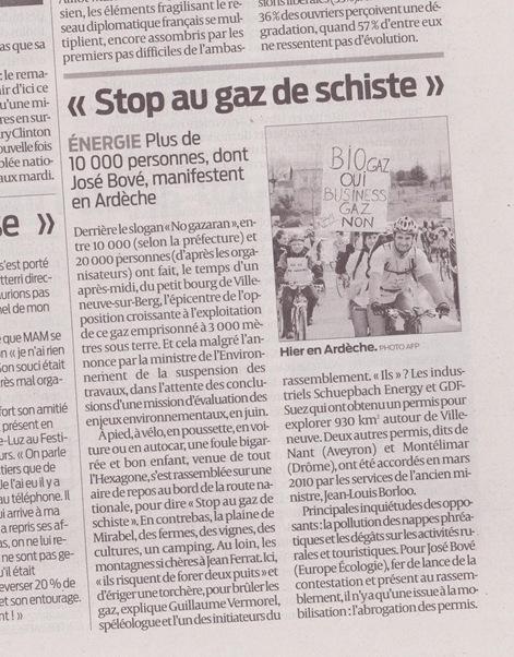 Manifestacion del Gaz de Schista Sud-Ouest 270211
