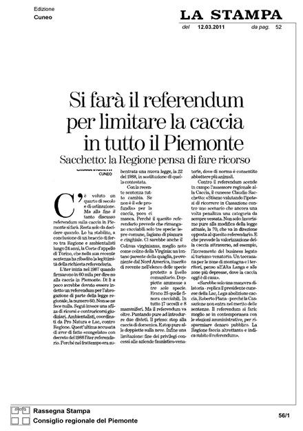 referèndum sobre la caça en Piemont