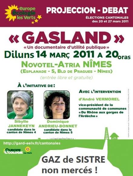 aficha del debat dins lo Gard