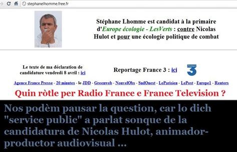 Stéphane Lhomme candidatura EELV comentat