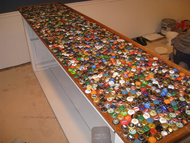 Copper top bar or bottle caps home brew forums for Beer cap bar top