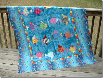 Swimmies quilt 009
