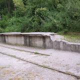 Rester från järnvägsperrongen
