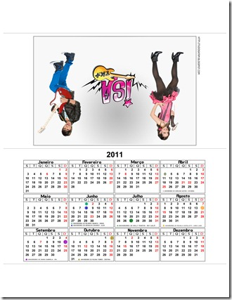 calendario isa e alex