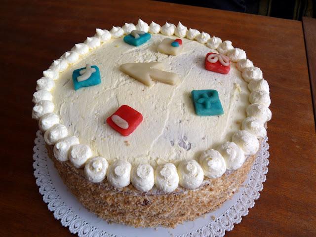 Narozeninový ikonkový dort
