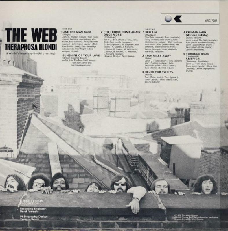 the Web ~ 1969 ~ Theraphosa Blondi inside