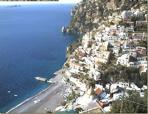 positano-webcam. Perched high above in Liparlati (meaning 'once spoken of ') ...