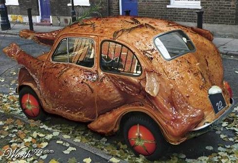 Chicken VW Art  Car