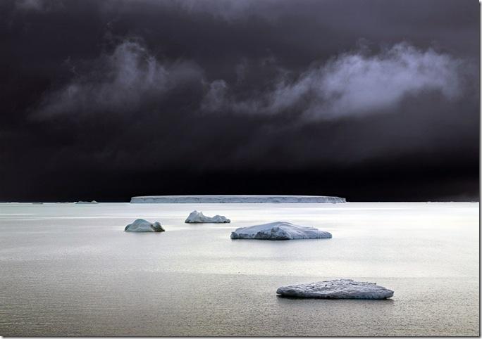 david burdney -antarctica five icebergs
