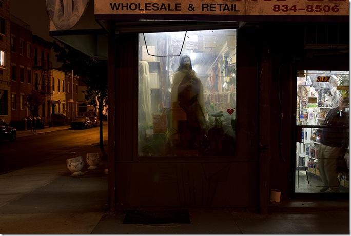 Joseph O. Holmes - window-virgin-night