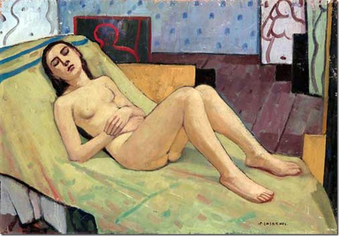 Felice Casorati - Nudo sdraiato (nello studio) - (1934)