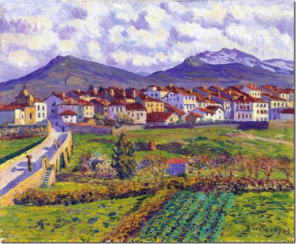 Darío de Regoyos -Paisaje de Hernani 1900