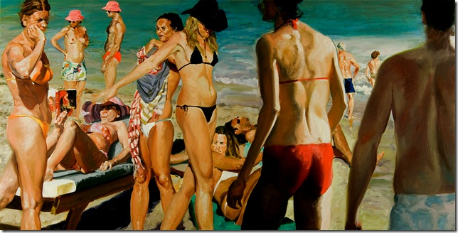 eric fischl -Beach Scene With Pink Hat, 2006.