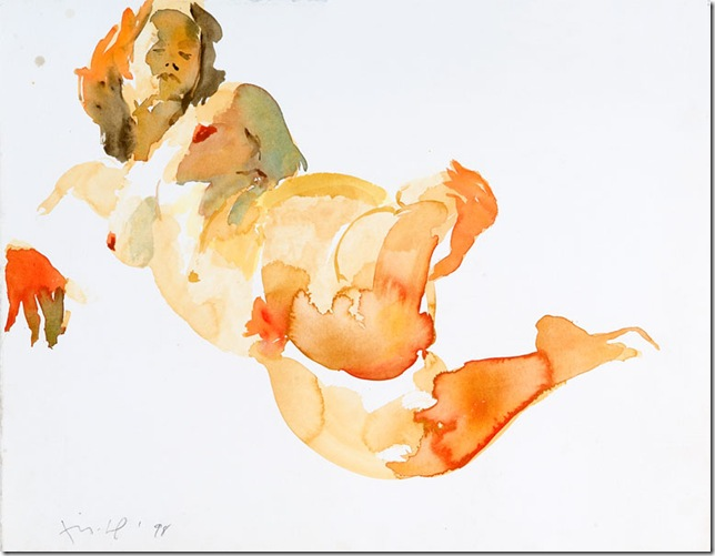 Untitled, 1998. Watercolor On Paper. 19.5 X 25 Inches.