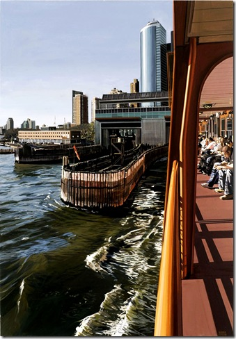 Richard Estes - Staten Island Ferry Docking Manhattan 2008