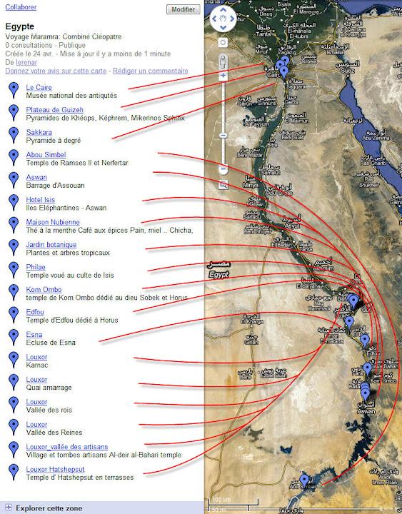 Retour d' Egypte Carte_Sites_traits