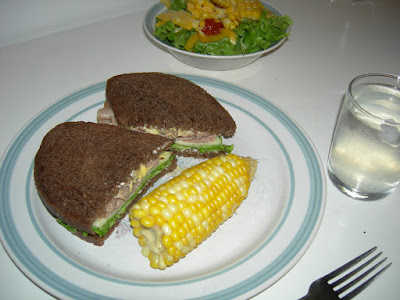 Dinner: Sandwich and Mexican Salad