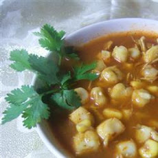 Mexican Chicken and Hominy Soup