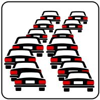 Sastrēgumu zīme Itālijā