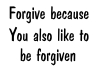 Forgiving feels better