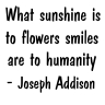 Addison on smiles, flowers...