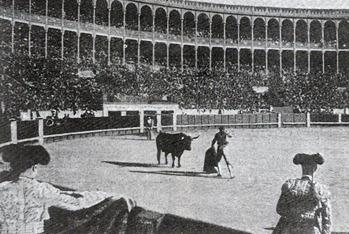 Mazzantini entrando a matar Madrid 1910 (Sol y Sombra)