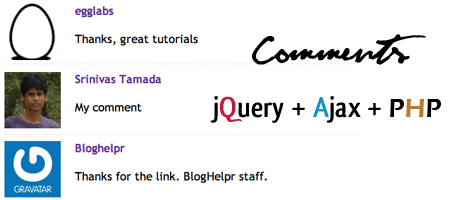 >Comment system with jQuery