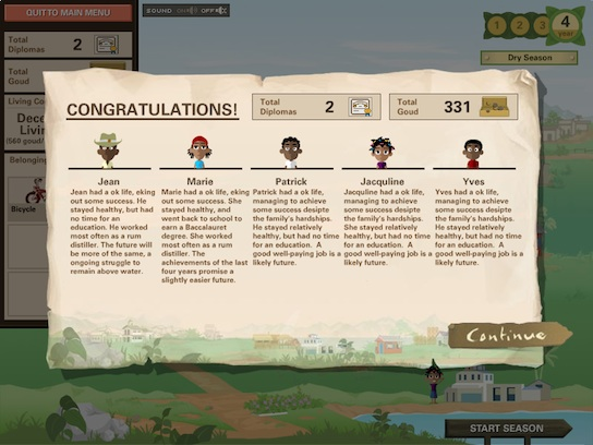 Ayiti screenshot - ending
