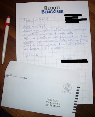 Lettera ad Agos S.p.a.
