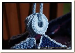 African flower bag - strap close-up