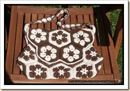 African flower bag - flat