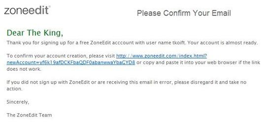 E-mail de confirmação