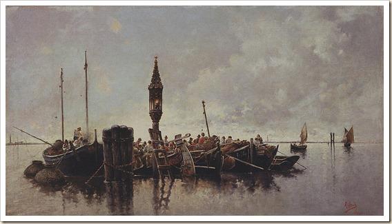 Rafael Senet Pérez - La pesca en la laguna de Venecia