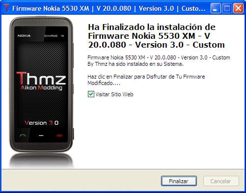 Firmware Nokia 5530 XM | V 20.0.080 | Custom By Thmz