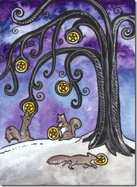 sixofpentacles_tarot of trees