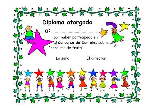 Formatos de reconocimientos para niños de preescolar - Imagui