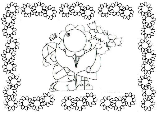 Dibujos para colorear de la primavera - Cenefas para dibujar ...
