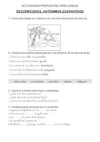 ACTIVIDADES DE LENGUA 3º PRIMARIA