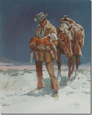 cowboy and calf
