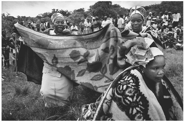 Traditional Zulu engagement ceremony.
