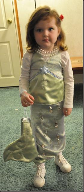 Gracie as the little Mermaid